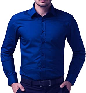 "Super weston Full Sleeve Regular Fit Plain Formal Shirt for Men,100% Cotton Shirts,Office Wear Shirt,Colour and Size Choose According 6 Colour avilable M=38"",L=40"",XL=42"""