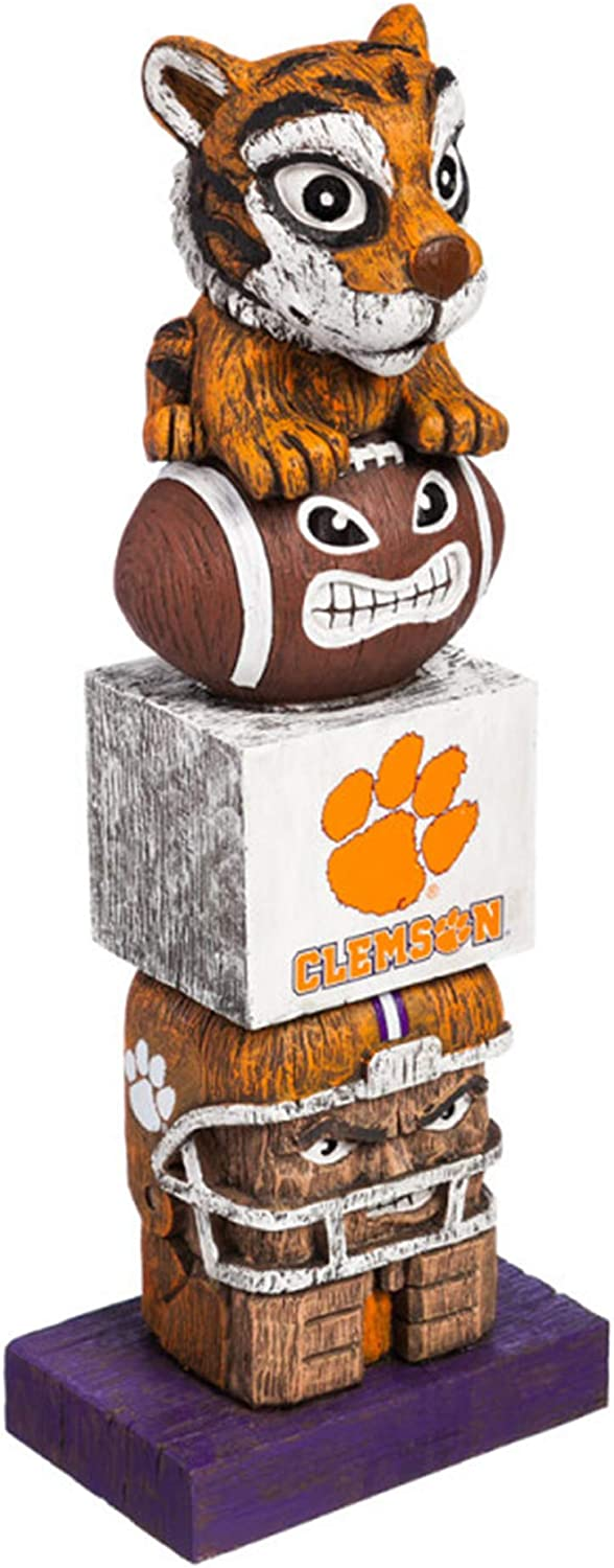 Evergreen Unisex NCAA Clemson Tigers Tiki Totem 84912TT, Brown, 5.5  x 16