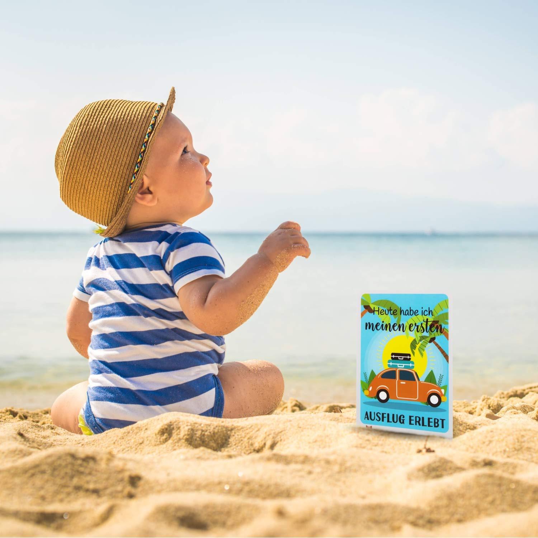 Milestone Cards DEUTSCH Baby Geschenk zur Geburt Meilensteinkarten Baby f/ür Babys erstes Jahr Geschenkset f/ür Junge und M/ädchen Taufe und Babyparty Foto- und Erinnerungs-Karten