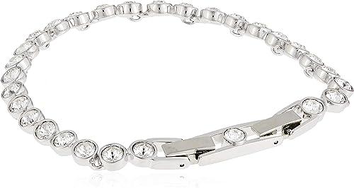 Swarovski Bracelet Tennis, Blanc, Métal Rhodié