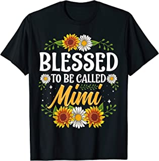 Blessed To Be Called Mimi Shirt Christmas Thanksgiving T-Shirt