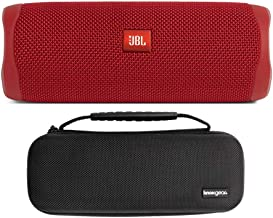 $119 » Knox Gear JBL Flip 5 Portable Waterproof Bluetooth Speaker (Fiesta Red) Hardshell Travel and Protective Case Bundle (2 Items)