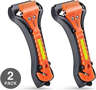 Luxtude Car Window Breaker and Seatbelt Cutter, Car Emergency Escape Tool with Glass Breaker Seat Belt Cutter, 2-in-1 Car ...