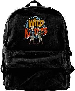 Mochila de lona con logotipo de Wild Kratts, para gimnasio, senderismo, portátil, bolsa de hombro para hombres y mujeres