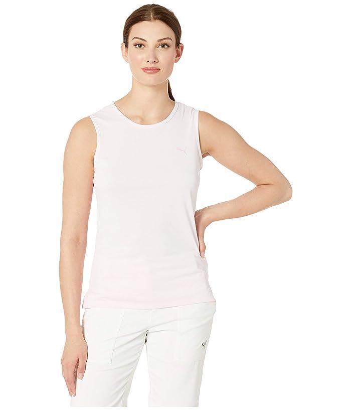 PUMA Golf Sleeveless Tech Tee (Pale Pink) Women