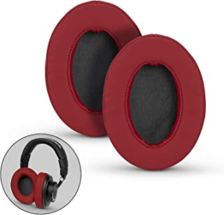 Brainwavz Ear Pads for ATH M50X, M50XBT, M40X, M30X, HyperX, SHURE, Turtle Beach, AKG, ATH, Philips, JBL, Fostex Replacement Memory Foam Earpads & Fits Many Headphones (See List), Dark Red Oval