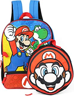 Nintendo Mario Backpack With Shaped Mario Head Lunch Kit Backpack