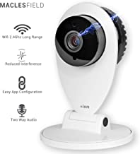 Maclesfield HD Wireless WiFi Camera, Home Office Security Camera, Night Vision, Indoor High Definition Video with Motion Detection, 2 Way Audio, Baby Monitor, Pet Camera, WiFi