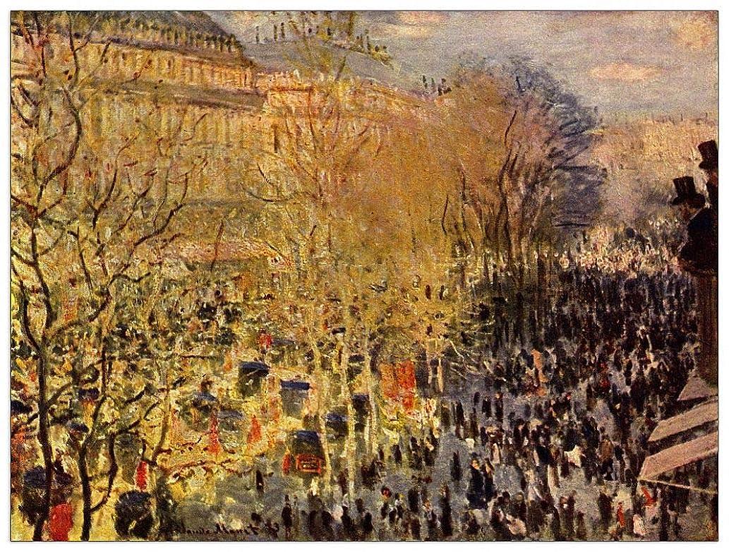 ArtPlaza TW91680 Monet Claude - Boulevard of Capucines in Paris Decorative Panel 35.5x27.5 Inch Multicolored
