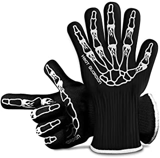 Heat Guardian Heat Resistant Gloves � Protective Gloves Withstand Heat Up To 932? � Use As Oven Mitts, Pot Holders, Heat Resistant Gloves for Grilling � Features 5� Cuff for Forearm Protection