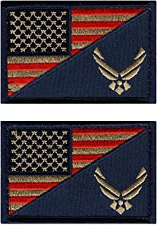 Air Force USA Flag 3 X 2 Subdued USAF Military Morale Patch Hook Patch (AF07-Bundle)