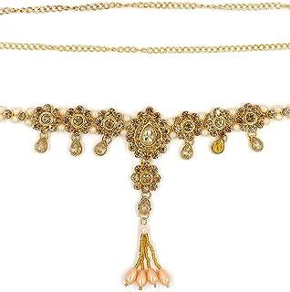 ZaffreCollections Gold Kamarband, kamarpatta, Waist Chain, tagdi Gold Polish Waist Belt for Women and Girls (ZCWB0003), 42...