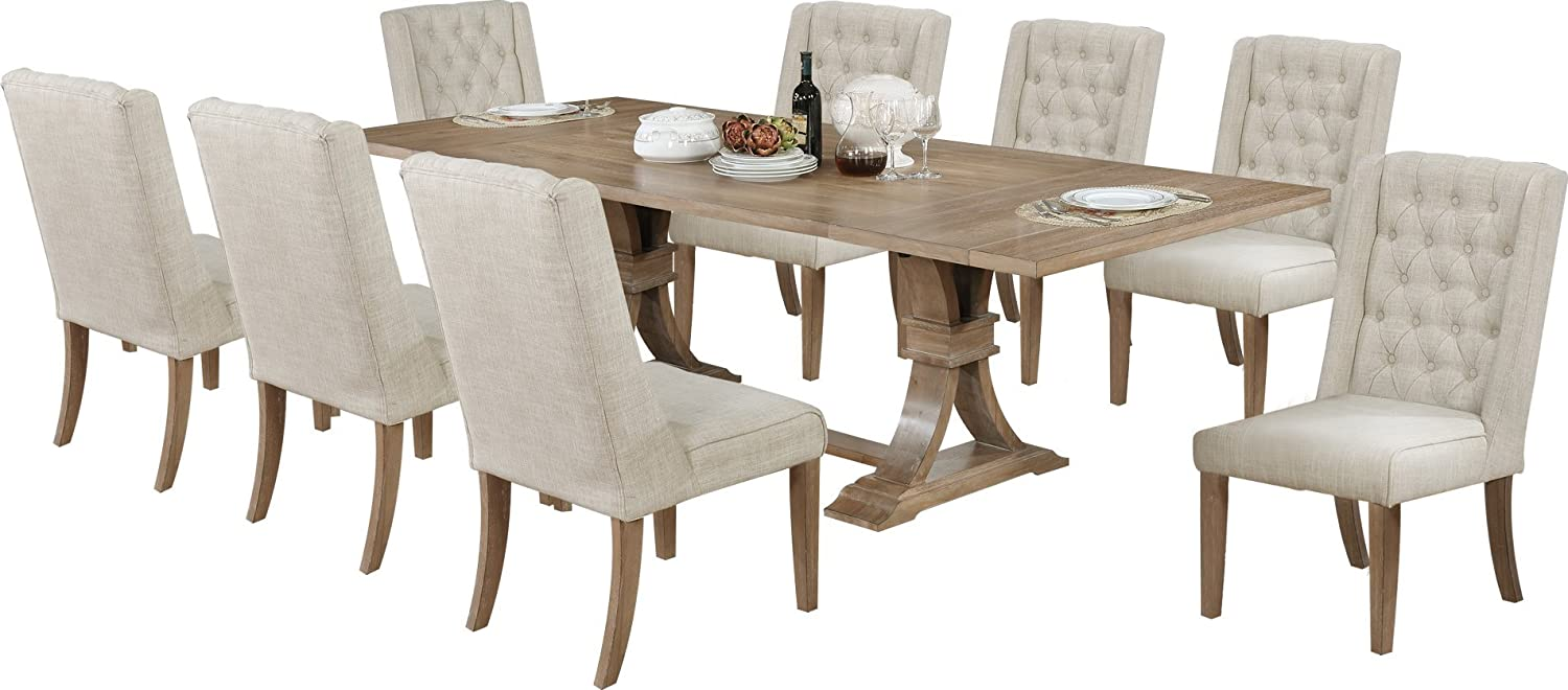 Buy Best Quality Furniture 9PC Dining Set, Beige Online in Russia ...