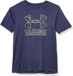 Under Armour Boys' Tech Hybrid Print Fill Logo T-Shirt