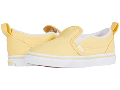 Vans Kids Slip-On V (Infant/Toddler) (Golden Haze/True White) Girls Shoes