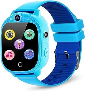 PROGRACE Kids Smartwatch with 90°Rotatable Camera Touchscreen Kids Watch Music Pedometer Flashlight Games FM Radio Kids Sm...