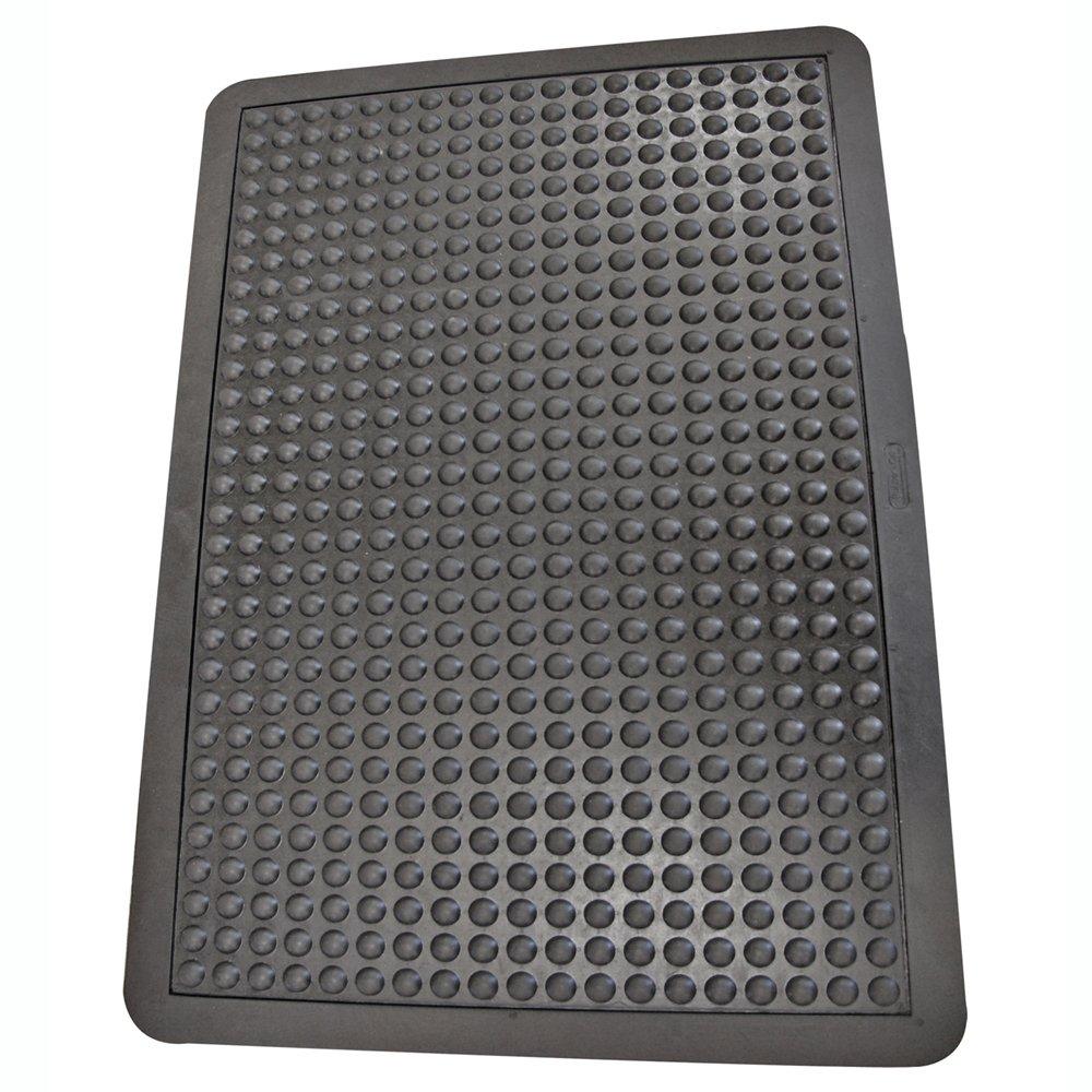 Rubber-Cal 03_184_ZWBK Bubble Top Sales results No. 1 Anti-Fatigue Rubber Long-awaited Floor Mat