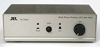 TCC TC-753LC SILVER Phono Preamp w/Level Control and AUX Input; includes optional PREMIUM HIGH POWER AC Adaptor