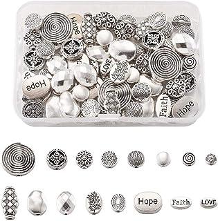 10 grammes de métal perle spacer tibetan style or antique 5,5*3,5mm ornées de baril