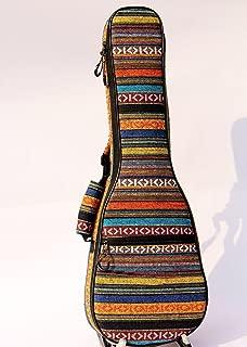 21 INCH Soprano Ukulele Bag Concert Ukulele Gig Bag Cotton Knit Ethnic Bohemian Style Adjustable Double Shoulder Strap Ukulele Case JTB02 (21 inch)