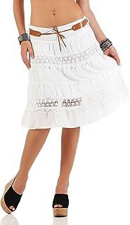 c5f2980a573a Suchergebnis auf Amazon.de für: weißer Sommerrock - Knielang / Röcke ...