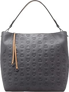 MCM Women's Klara Monogrammed Leather Hobo Large