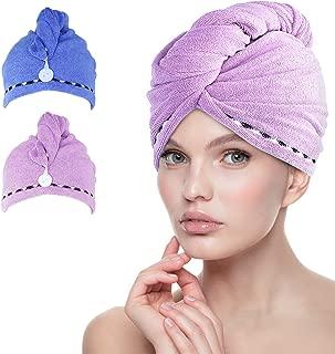 Fyore Ultra Absorbente para el cabello Turbante Toalla de secado r/ápido Anti Frizzy Microfibra Dise/ño de lujo para mujeres Beige