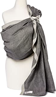 Baby Carrier Ring Sling by Hip Baby Wrap for Newborns, Infants and Toddlers (Midnight) - eco-Friendly, Beautiful, 100% Cotton - Perfect Baby Show Gift - Great for New mom and dad - Nursing Cover