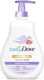 Baby Dove Sensitive Skin Care Baby Wash For a Calming Baby Bath Wash Calming Moisture Hypoallergenic and Tear-Free, Washes Away Bacteria 13 oz