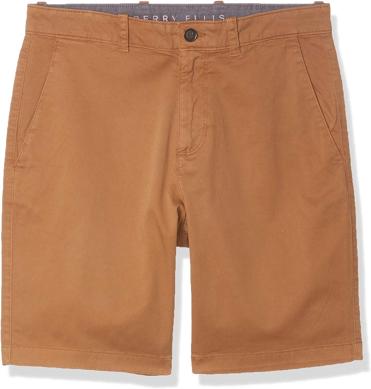 Price reduction Super intense SALE Perry Ellis Men's Solid Dye Shorts Garment Twill