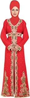 Arabic Costume Dress with Unique Beautiful Embroidery Design for Ladies 6521
