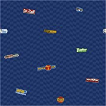 York Wallcoverings DK6079SMP Disney Kids Cars Logo Wallpaper Memo Sample, 8-Inch x 10-Inch