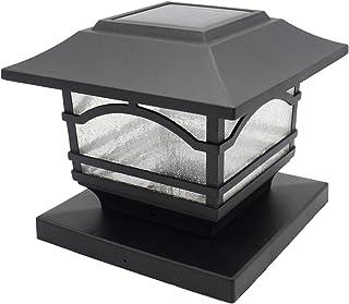 درپوش چراغ خورشیدی Davinci Premium Post Light - نور در فضای باز برای دکوراسیون نرده یا پاسیو - کلاه های خورشیدی ، روشنایی سفید گرم ، آلومینیوم ، لامپ متناسب با پست های 4x4 یا 6x6