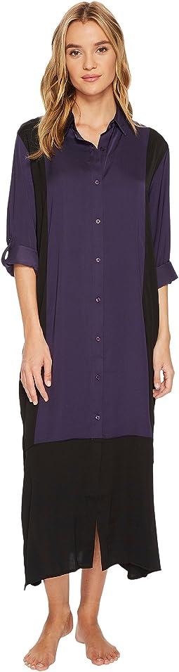 DKNY - Long Sleeve Maxi Sleepshirt
