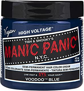 Manic Panic Semi-Permament Haircolor Voodoo Blue 4 Ounce Jar (118ml) (6 Pack)