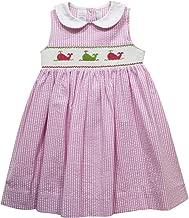 BETTI TERRELL Whales Smocked Hot Pink Stripe Sleeveless Dress