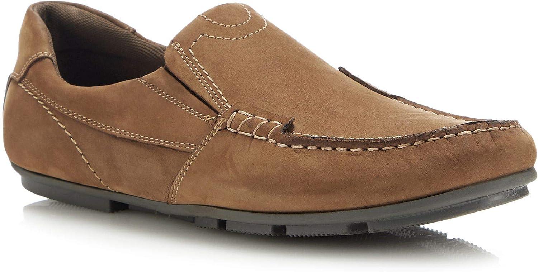 Henley Comfort Men Tan Nubuck 'Robin' Loafers