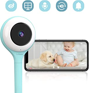 Lollipop HD WiFi Video Baby/Pet Monitor (Turquoise)- Supports 2 Cameras and Up, Night Vision, Noise & Crying Detection, 2-Way Talk Back, Wall Mount- Baby Boy Girl Shower Gift