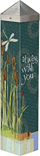 Studio M Always with You Art Pole Memorial Bereavement Outdoor Decorative Garden Post, Made in USA, 20 Inches Tall
