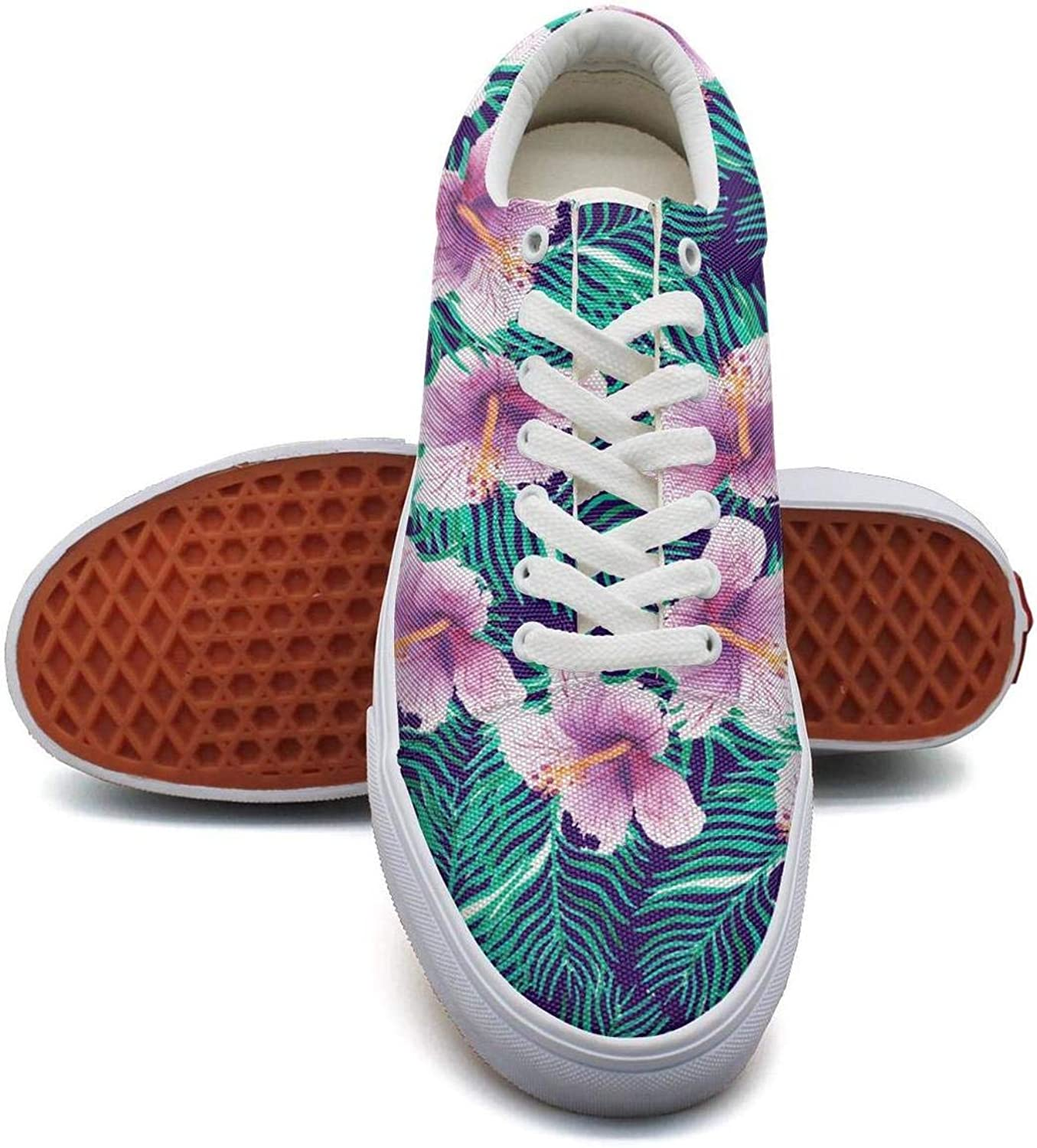 KSOWE3KD Women's Mens' Lightweight Slip-On shoes Hawaiian Flower Popular Unisex Casual shoes