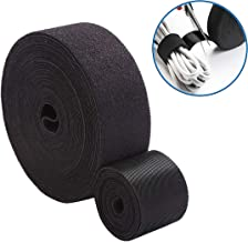 Reusable Fastening Tape Cable Ties Roll 2 Inch Double Side Hook Roll Hook and Loop Cord Management Wire Organizer Straps Black 5 Yard