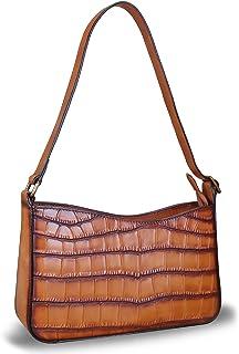 حقائب يد جلدية حقيقية للنساء حقائب يد هوبو نمط التمساح سيدة حقيبة الكتف