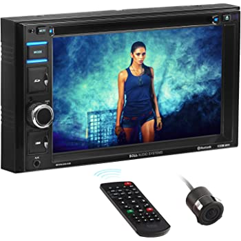 BOSS Audio Systems BVB9364RC Car DVD Player - Double Din, Bluetooth Audio and Hands-Free Calling, 6.2 Inch Touchscreen LCD, MP3, CD, DVD, USB, SD, AUX in, AM/FM Radio, Rearview Camera Included