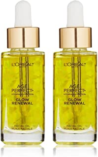 L'Oreal Age Perfect Hydra-Nutrition Glow Renewal Facial Oil 1 oz (Pack of 2)