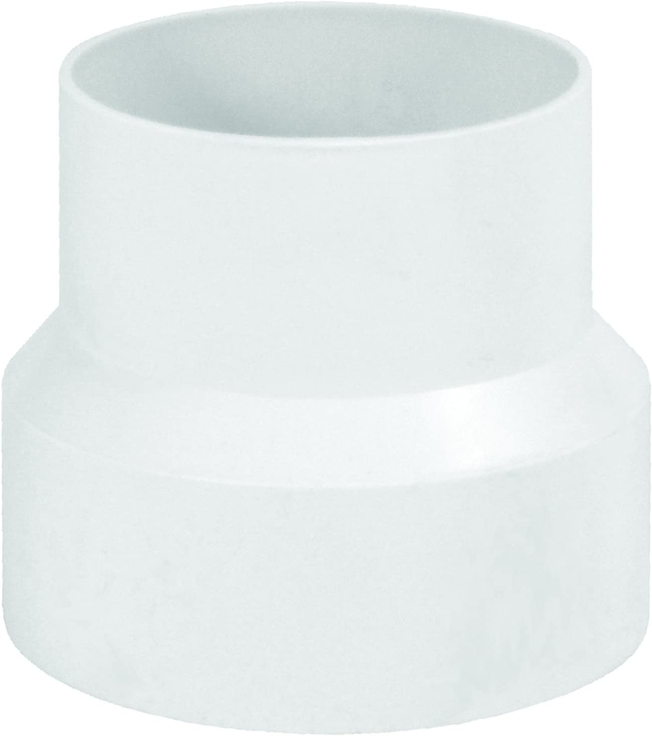 Deflecto Duct Nashville-Davidson Mall Increaser and Reducer We OFFer at cheap prices Plastic Inline Adapter Whi