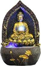 """Home Office Decoration Tabletop Water Fountain 23.2"""" Zen Buddha Tabletop Water Fountain Waterfall with Nebulizer Lotus Bud..."""
