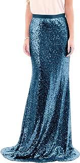 High Waist Sequins Skirts Mermaid Skirt Prom Skirts Plus Skirt Bridesmaid Skirts for Wedding LLBS012