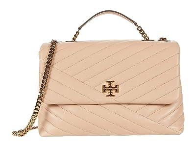 Tory Burch Kira Chevron Convertible Shoulder Bag (Devon Sand) Handbags