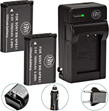 BM Premium 2 NP-BX1 Batteries and Charger for Sony CyberShot DSC-RX100, RX100 II, RX100 III, RX100 IV, RX100 V, RX100 VI, RX100 VII, DSC-RX1R, RX1R II, HX50V, HX60V, HX80V, HX90V, WX300, WX350 Cameras