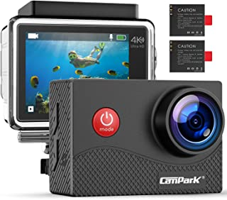 Campark X15 4K Action Camera 16MP EIS Anti-Shake WiFi Camcorder with Touch Screen Waterproof Cam 30m Underwater with Mount...
